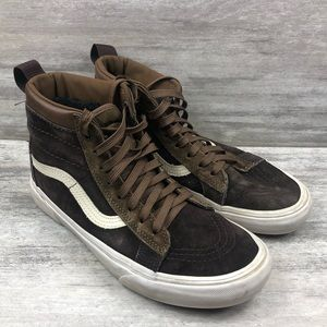 VANS lace up brown high tops